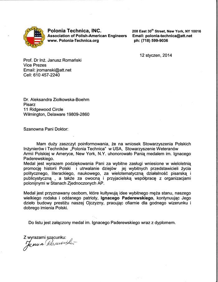 AleksandraZiolkowska Boehm-pismo01122014