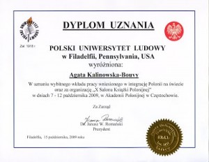 dyplom uznania Agata